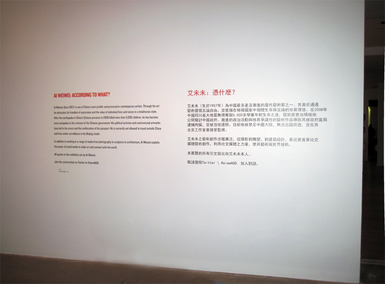 Intro Wall for Ai Weiwei