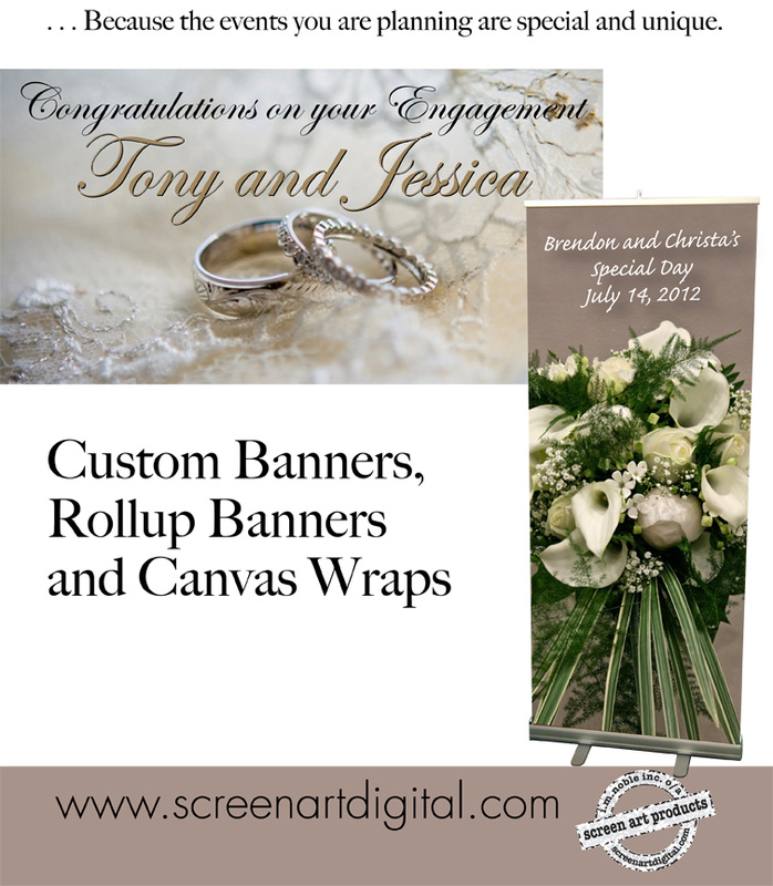 banners for weddings anniversaries and Engagements
